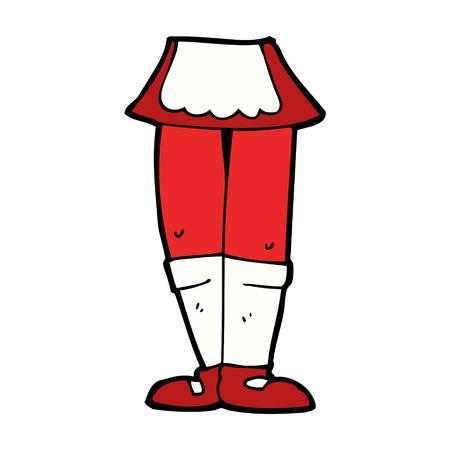 piernas de mujer: dibujos animados piernas femeninas Vectores