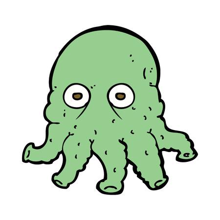 cartoon alien: cartoon alien squid face