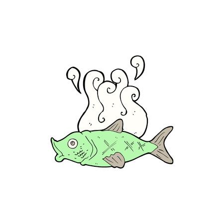 smelly: cartoon smelly  fish Illustration