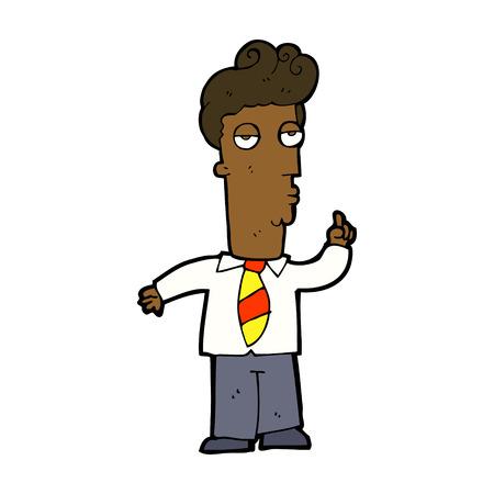 bored man: cartone animato annoiato uomo che chiede domanda