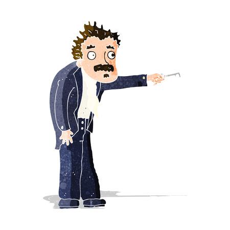 trembling: cartoon man trembling with key unlocking Illustration