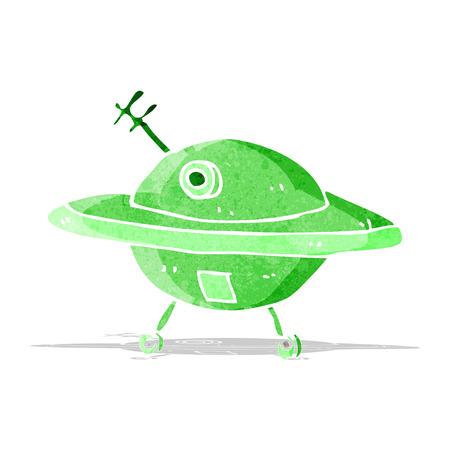 disco volante: cartone animato disco volante Vettoriali