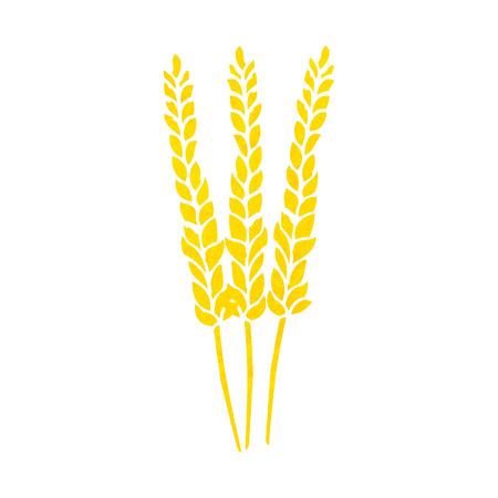 clip art wheat: cartoon corn