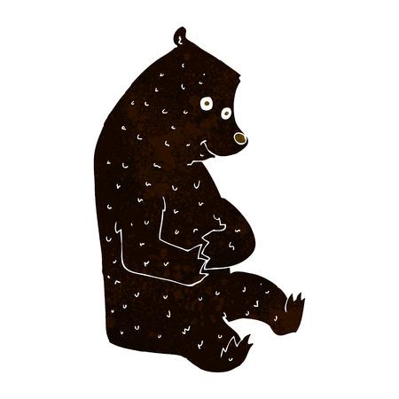 cartoon happy black bear