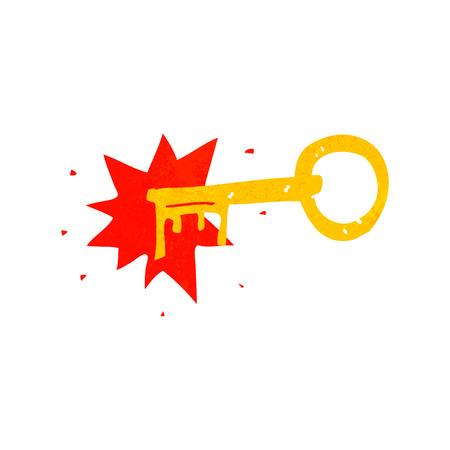 oude sleutel: cartoon old key