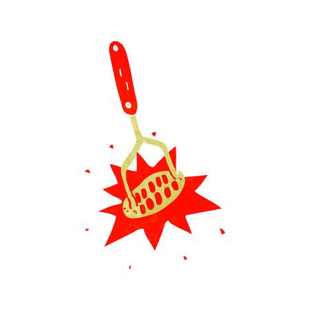 masher: cartoon potato masher Illustration
