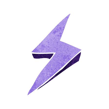cartoon lightning bolt symbol Vector