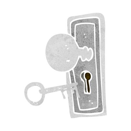 cartoon sleutel en sleutelgat Stock Illustratie