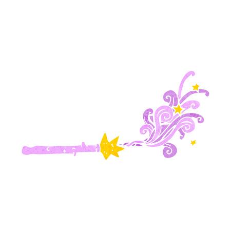 cartoon magic wand Ilustrace