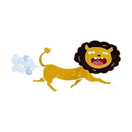 farting: cartoon farting lion