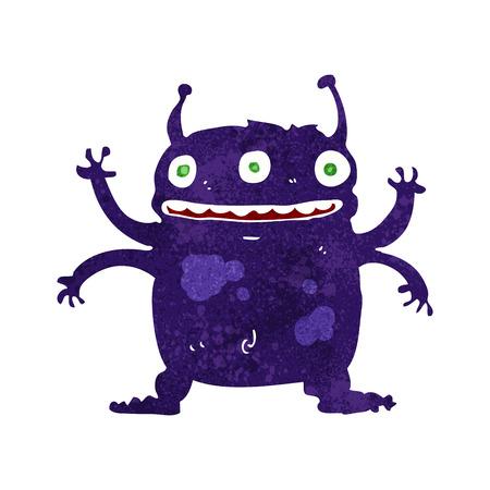 cartoon alien: cartoon alien monster Illustration