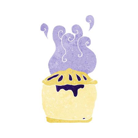 blueberry pie: cartoon blueberry pie Illustration