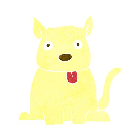 sticking out the tongue: perro del dibujo animado sacar la lengua