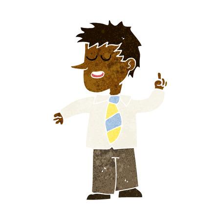 goed idee: cartoon man met een goed idee Stock Illustratie