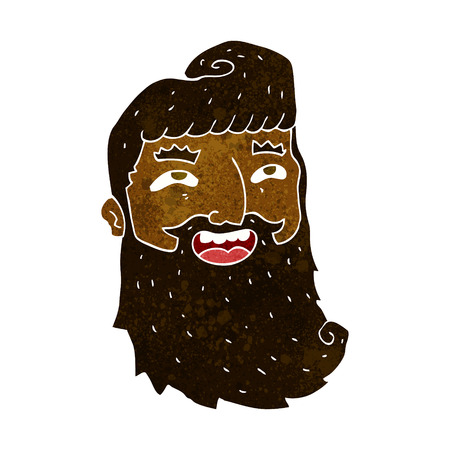 bearded: cartoon laughing bearded man