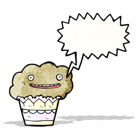 cartoon muffin Vector