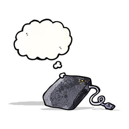 disco duro: dibujos animados del disco duro Vectores