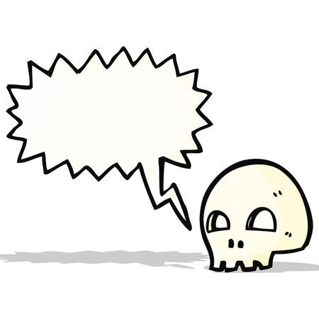 spooky skull cartoon Vector