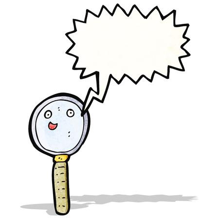 comic figur: Vergr��erungsglas Zeichentrickfigur