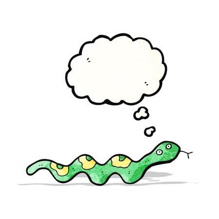 slithering: cartoon slithering snake