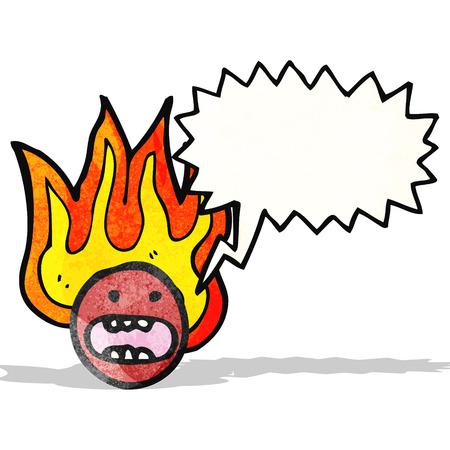 flaming: flaming face symbol
