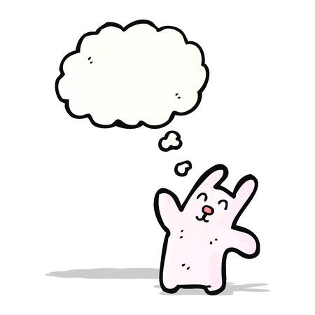 pink rabbit: happy pink rabbit cartoon
