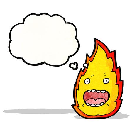 comic figur: Brandzeichentrickfigur