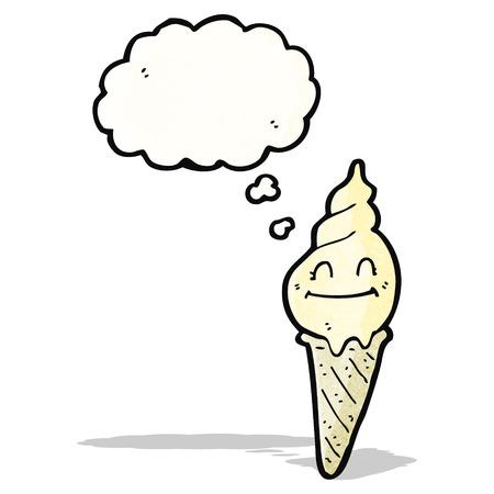 helado caricatura: personaje de dibujos animados de helados