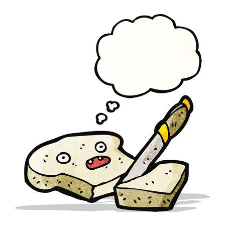 sliced: personaje de dibujos animados el pan de molde