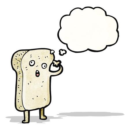 comic figur: geschnittenem Brot Zeichentrickfigur Illustration