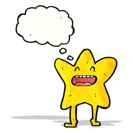 comic figur: Sternzeichentrickfigur Illustration