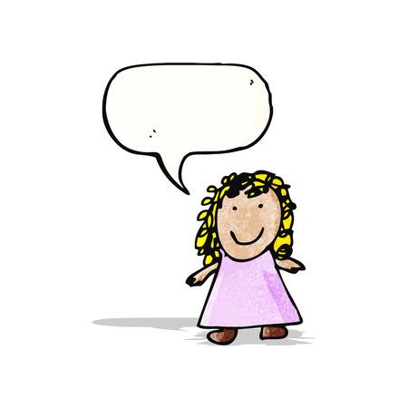 Zeichnung eines Mädchens Kindes