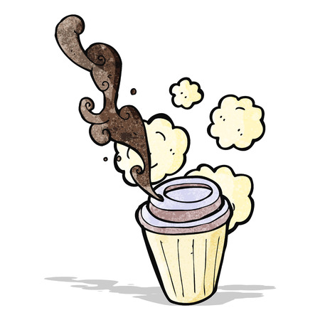 coffee spill: cartoon coffe cup Illustration