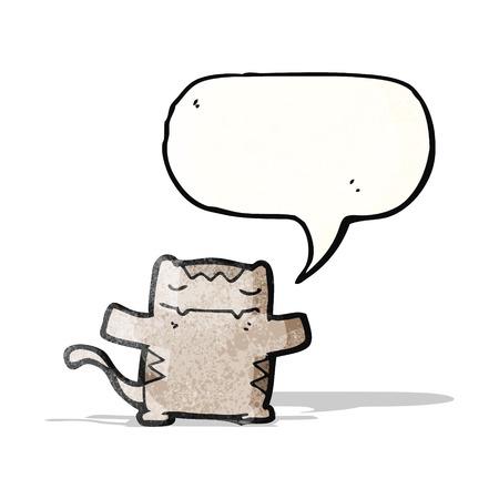 happy cat: Cartoon gl�cklich Katze