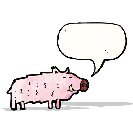 chancho caricatura: cerdo de la historieta