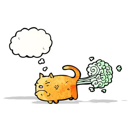 smelly: farting cat cartoon