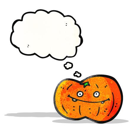 calabaza caricatura: Caricatura de calabaza Vectores
