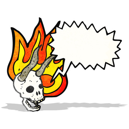 cartoon devil: cartoon devil skull