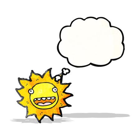 sol caricatura: dibujos animados de sol