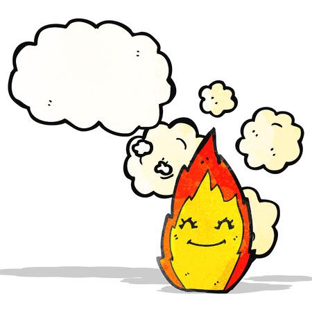 comic figur: Flamme Zeichentrickfigur Illustration