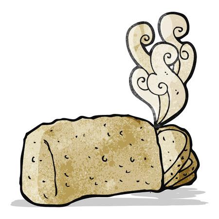steaming: steaming hot bread cartoon