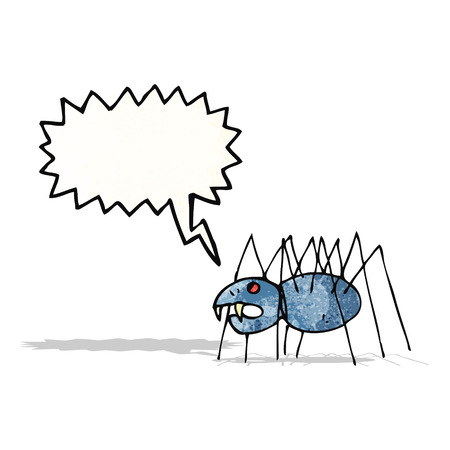 childs: childs drawing of a spider
