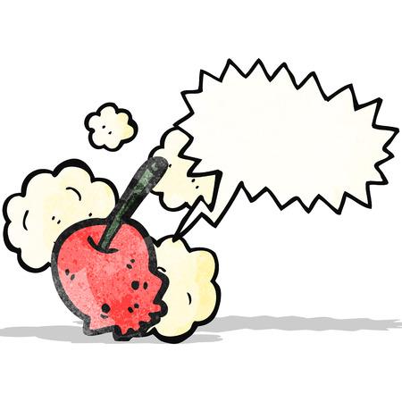 cartoon cherry skull Vector