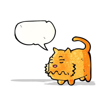 misselijk cartoon kat