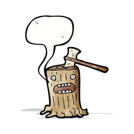 stump: cartoon tree stump