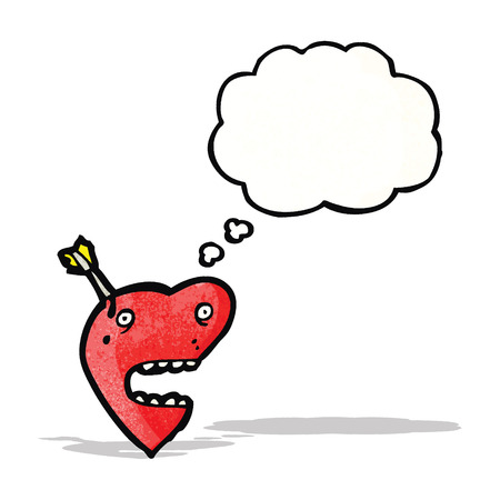 love heart with arrow cartoon Vector