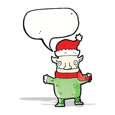 comic figur: christmas elf Zeichentrickfigur