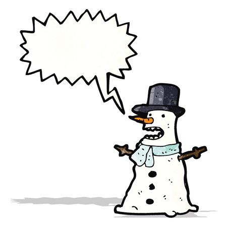 grumpy: grumpy snowman cartoon Illustration