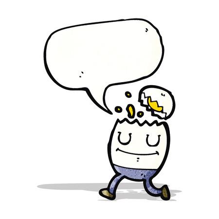 humpty dumpty: cartoon egg