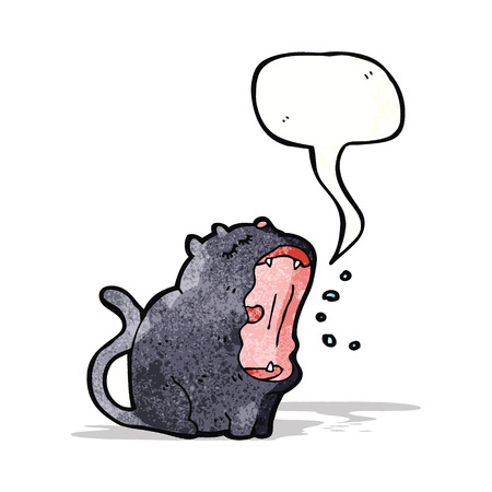 yawing: dibujo animado del gato del canto